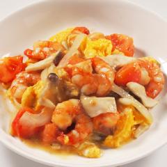 魚介料理(トマトと卵の炒め)